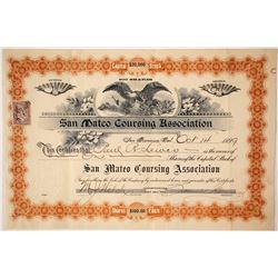 San Mateo Coursing Association Stock Certificate, 1899