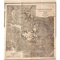 Yellowstone Survey Map by FV Hayden