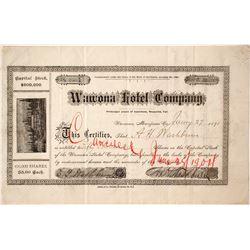 Wawona Hotel Company Stock - NUMBER 1 to Washburn
