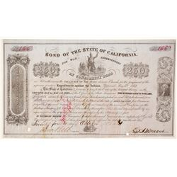 California Bond for the Indian War Indebtedness, 1852, $250