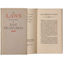 The Laws of the Town of San Francisco 1847