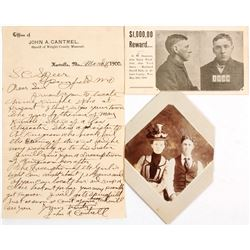Cabinet Cards, Letterhead signed by Sheriff