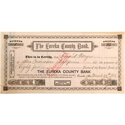 Eureka County Bank Stocks Numbered 1 and 2