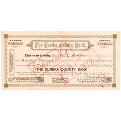 Eureka County Bank Stock Certificate