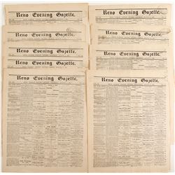 Reno Evening Gazette, 8 Issues