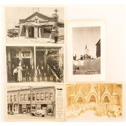 Virginia City Building Real Photo Postcards