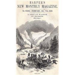 "Original Harper's Magazine ""A Peep at Washoe"" by J Ross Browne"