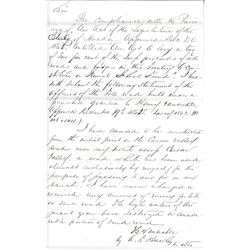 1865 Henry Van Sickle Toll Road Official Document