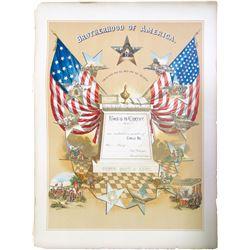 Brotherhood of America Enrollment Print