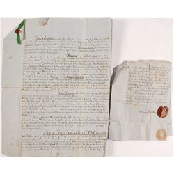 1851 Pennsylvania Legal Document, Matthias Aspden
