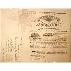 Pennsylvania Justice of Peace Appointment Cert.