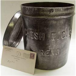 Antique Chism Ice Cream Bucket