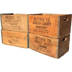 Arden Dairy Crates - Lot of 4