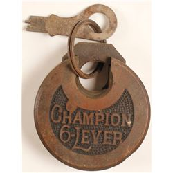 Champion 6 Lever Embossed Lock w key