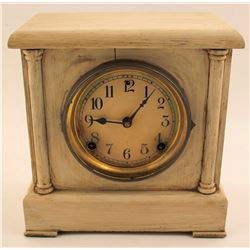 Sessions Mantle Clock, Antiqued Ivory Painted Wood Case