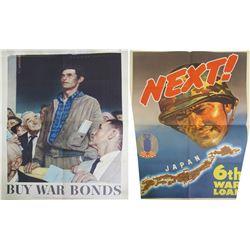 War Bonds Posters (2) Original Vintage