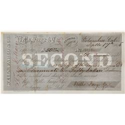 Wells Fargo Second of Exchange from Columbia, California