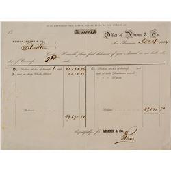 Adams & Co. Internal Accounting Form