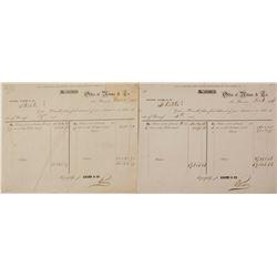 Two Gold Rush Era Adams & Company Internal Account Statements