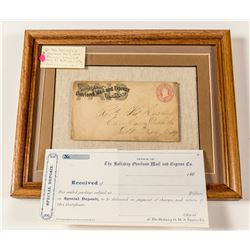 Holladay's Overland Express Envelope and Unused Special Deposit Slip