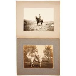 Cabinet Cards of Cowboys & Horses