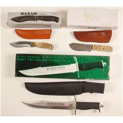 Three hunting/survival knives