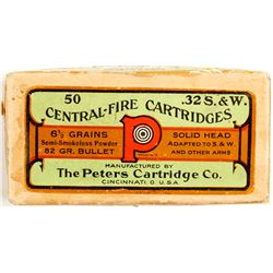 Turn of the Century Peters .32 S&W cartridges