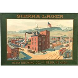 Sierra Lager / Reno Brewing Co. / Tin Sign