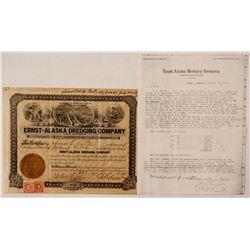 Ernst-Alaska Dredging Company stock/ letter