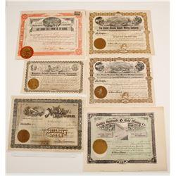 Five Alaska Mining Stock Certificates