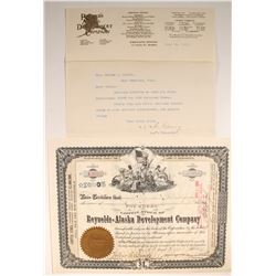 Reynolds-Alaska Development Company stock & letter