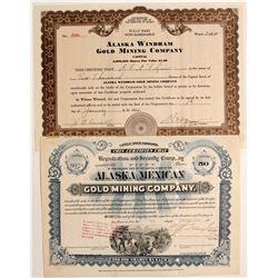Two certificates of Alaskan stock
