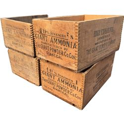 Dynamite Boxes - Giant Powder Co. - Lot of 4