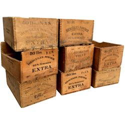 Dynamite Boxes - Hercules Powder - Dated Set, Lot of 8