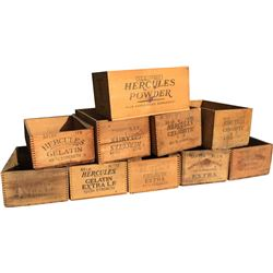 Dynamite Boxes - Hercules Powder - Lot of 10