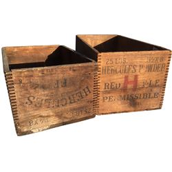 Dynamite Boxes - Hercules Powder - Lot of 2