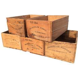 Dynamite Boxes - Hercules Powder - Lot of 5
