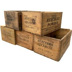 Dynamite Boxes - Hercules Powder 60% - Lot of 5