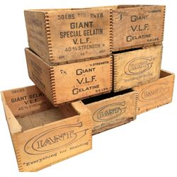 Dynamite Boxes Giant Powder Co. - Lot of 7