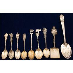 Silver Souvenir Spoons (9)