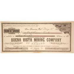 Buena Vista Mining Company of Arizona Stock Certificate