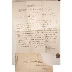 Letter Involving Arivaca Grant, 1882