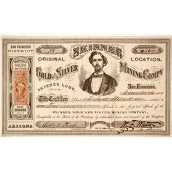 Skinner (Original Location) Gold and Silver Mining Company Stock
