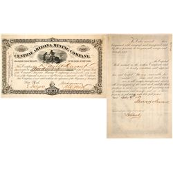 Central Arizona Mining Co. Stock Certificate, 1881