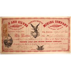 Rare Triunfo Gold & Silver Mining Certificate