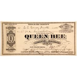 Queen Bee Mining Company Stock