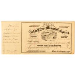 Porter G&S MC Stock Issued to Porter, 1863
