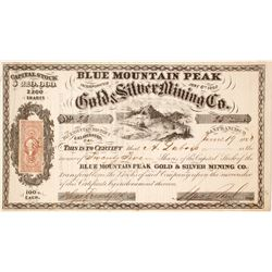Blue Mountain Peak Gold & Silver Mining Company Stock