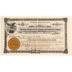 INYO, CERRO GORDO, Great Western Ore Purchasing & Reduction Stock, Cerro Gordo, Certificate