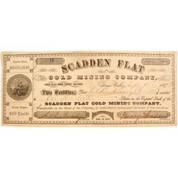 Scadden Flat Gold Mining Co. Stock #11